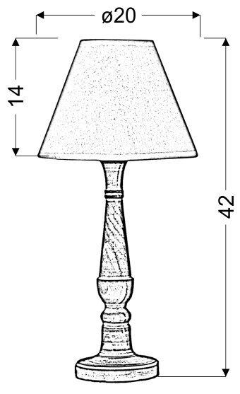 FOLCLORE 1 LAMPKA GABINETOWA H-42 1X40W E14 BIAŁA