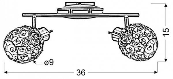 HORUS LISTWA 2X40W G9 CHROM