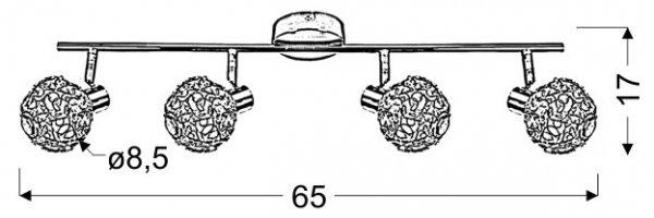 COLLAR LISTWA 4X40W G9 CHROM