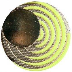 Medal mały na wklejkę 25 mm fluorescencyjny średni złoty