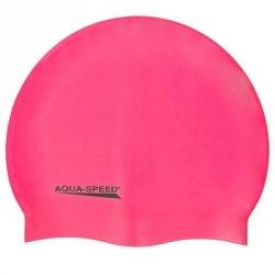 Czepek Aqua-Speed silikon Mega senior różowy
