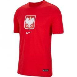 Koszulka Nike Poland Tee Evergreen Crest CU9191 611 czerwony XL