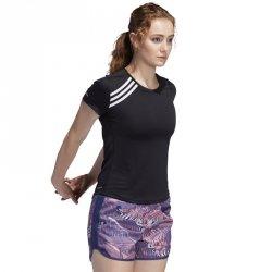 Koszulka biegowa adidas Run 3 Stripes Tee Women FK1602 czarny XS