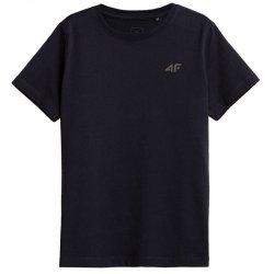 T-Shirt 4F HJZ21-JTSM002B 31S granatowy 128 cm