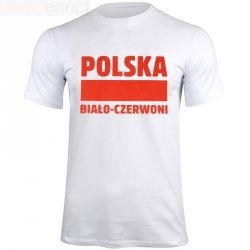 Koszulka Polska Biało-Czerwoni biały S337909 biały S