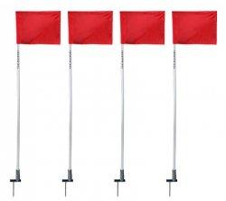 Flagi narożne na sprężynach wbijane, Chorągiewka 4szt.