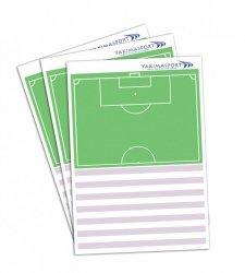 Blok trenera, zeszyt, notatnik- połowa boiska