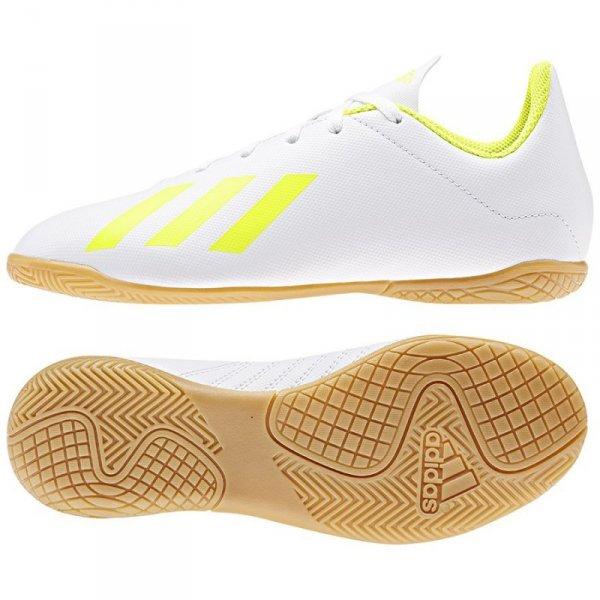 Buty adidas X 18.4 IN J BB9411 biały 30
