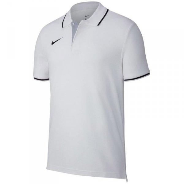 Koszulka Nike Polo Y Team Club 19 AJ1546 100 biały XS (122-128cm)