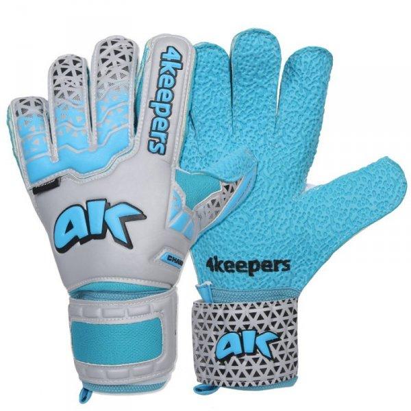 Rękawice 4keepers Champ Astro IV HB Junior + płyn czyszczący niebieski 4