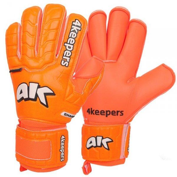Rękawice 4keepers Champ Colour Orange IV RF + płyn czyszczący pomarańczowy 10,5