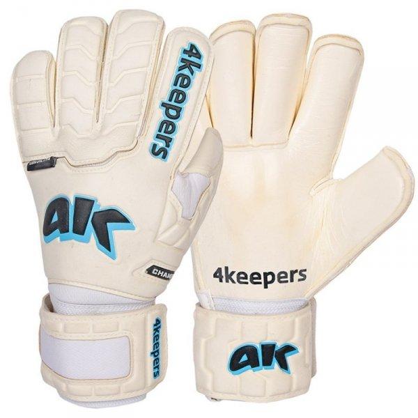 Rękawice 4keepers Champ Aqua Contact IV RF + płyn czyszczący biały 10