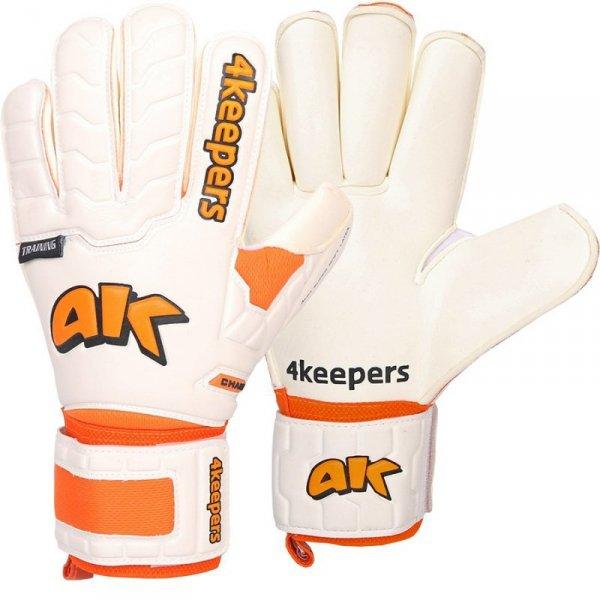 Rękawice 4keepers Champ Training IV Roll Finger S622438 biały 9,5