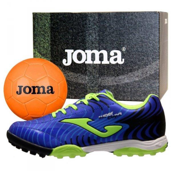 Buty Joma Super Copa JR 2004 TF SCJS.2004.TF + Piłka Gratis niebieski 28