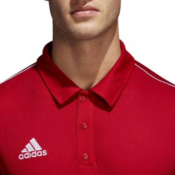 Koszulka adidas Polo Core 18 CV3591 czerwony S