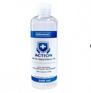 Żel do dezynfekcji rąk ACTION 500ml etanol 70g/100g