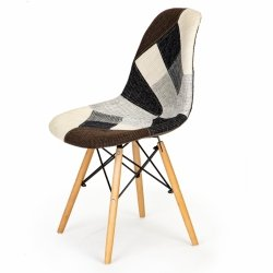 Zestaw 2 krzeseł patchwork design salon jadalnia ModernHome