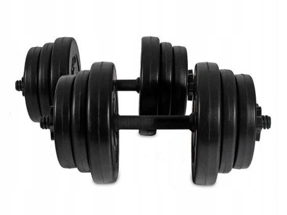 Hantelki hantle 20 KG zestaw dwóch hantli po 10kg fitness