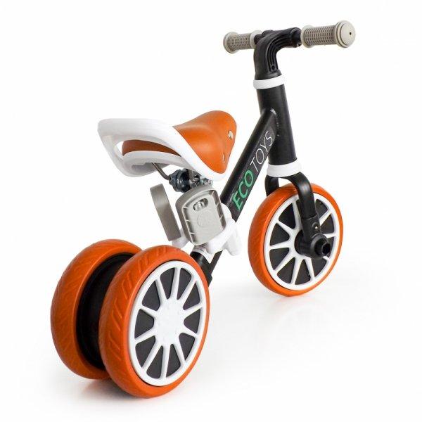 Rower rowerek biegowy jeździk z pedałamiI 2w1 czarny