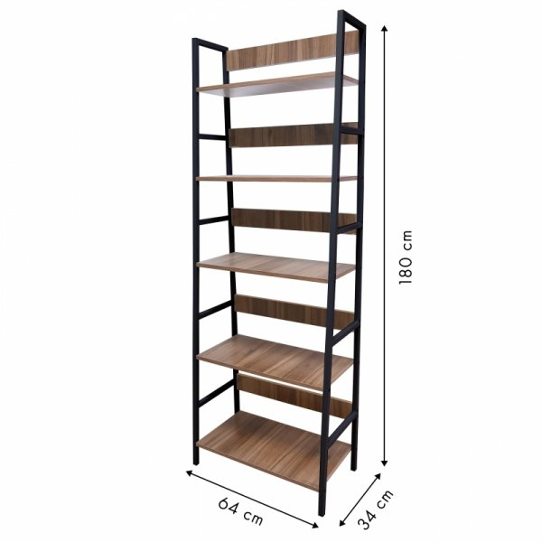 Szafka regał 5 półek loftowy stojak biblioteczka