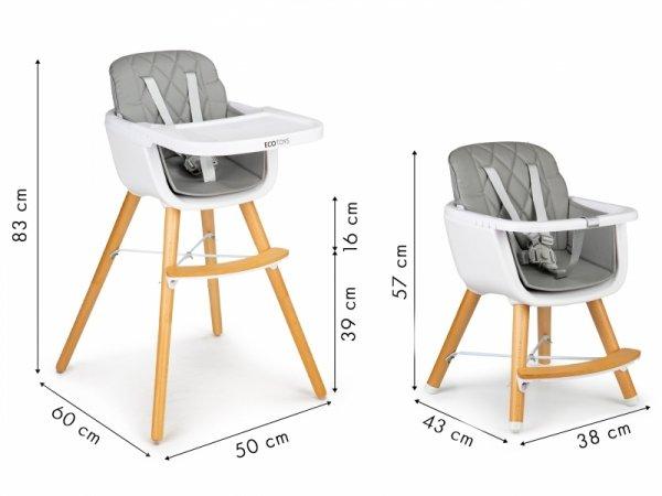 Fotelik krzesełko do karmienia dzieci 2w1 Ecotoys