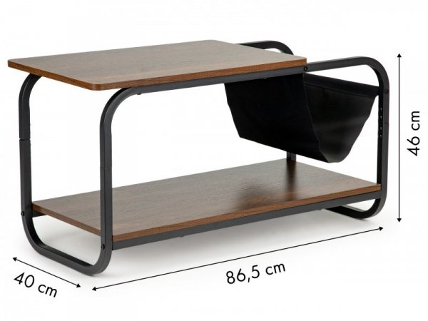 Stolik kawowy loft nowoczesny 2 poziomy ModernHome