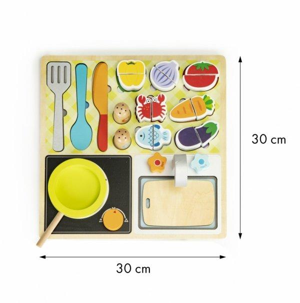 Drewniana kuchnia zestaw kuchenny + akcesoria
