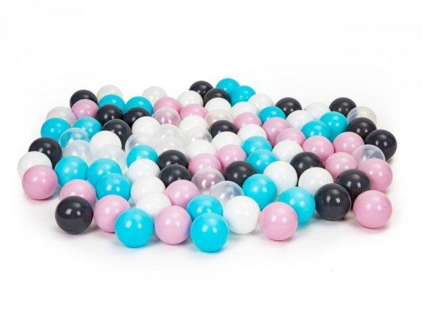 Piłki kolorowe kulki basenu namiotu komplet 100szt