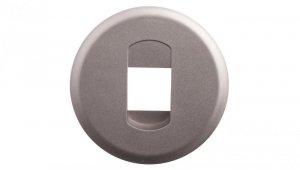 CELIANE Plakietka gniazda głośnikowego pojedynczego tytan 068511