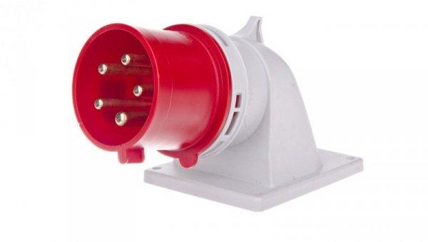 Wtyczka tablicowa kątowa 32A 5P 400V czerwona IP44 77725-6