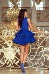Ekskluzywna sukienka z koronkowym dekoltem Charlotte - Chabrowa - numoco 200-7