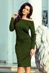 Sukienka z odkrytymi ramionami Raya - KHAKI - numoco 225-1