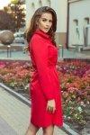 Koszulowa sukienka z wiązaniem Camille - Czerwona