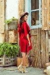 Sukienka motyl  Sofia - Czerwona - numoco 287-3
