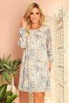 HANNAH szyfonowa sukienka z dekoltem na plecach - beżowo-niebieska-2