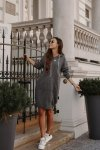 Swetrowa sukienka sportowa z kieszenią -  LSG132 - grafit-7