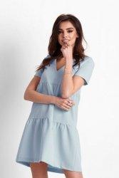 Trapezowa sukienka Lola - Niebieska - Ivon