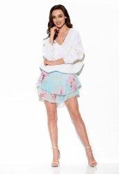 Zwiewna spódniczka z jedwabiem LG545 L druk 18