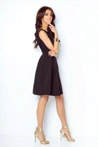 Rozkloszowana sukienka Tailor - Czarna - StreetStyle 290