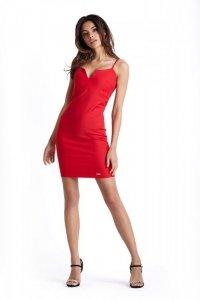 Klasyczna sukienka Cindy z zipem - Czerwona - Ivon