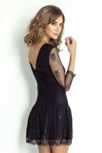 Koronkowa sukienka Scarlett - Czarna - Ivon