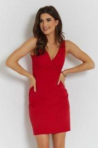 Klasyczna sukienka Paola - Czerwona - StreetStyle 733