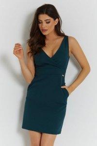 Klasyczna sukienka Paola - Zielona - StreetStyle 734