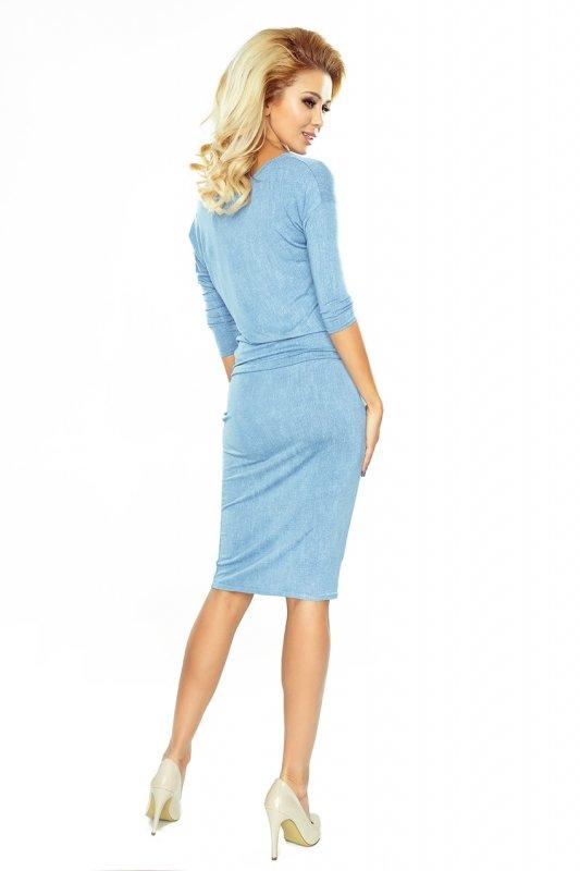 Sukienka sportowa - Wiskoza - Bardzo Jasny Jeans - numoco 13-80