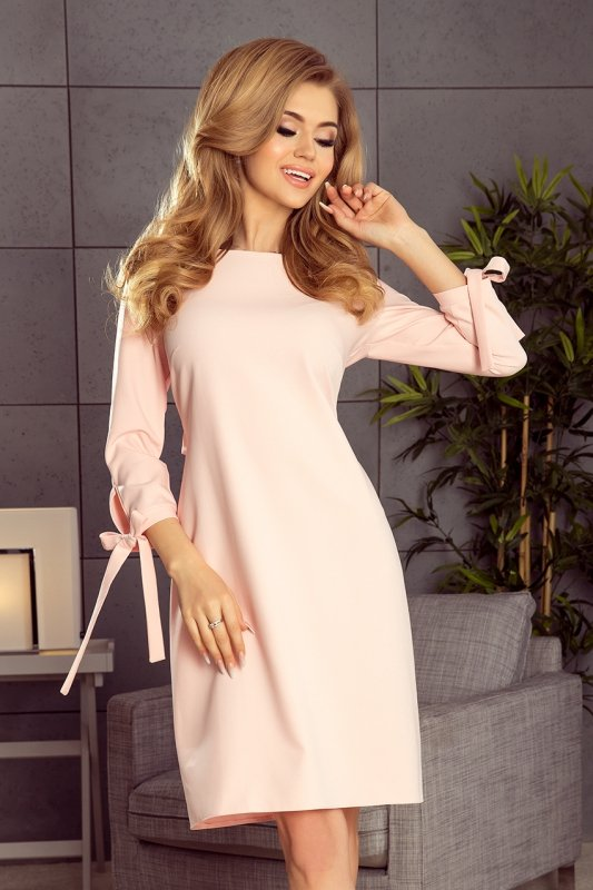 Sukienka z kokardkami Alice - Pastelowy Róż
