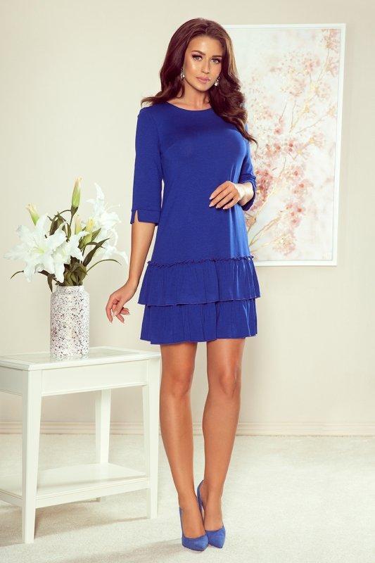 Sukienka z falbankami Susan - Cabrowa - numoco 257-1
