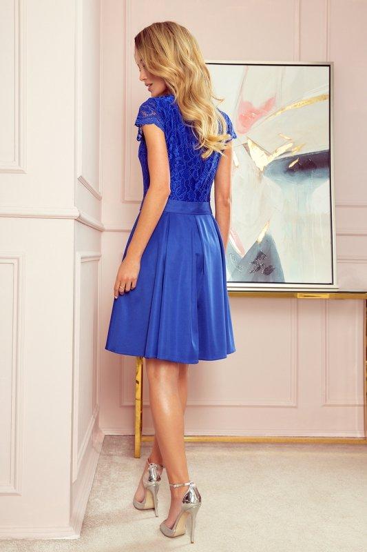 Sukienka z dekoltem i koronką ANNA- CHABROWA