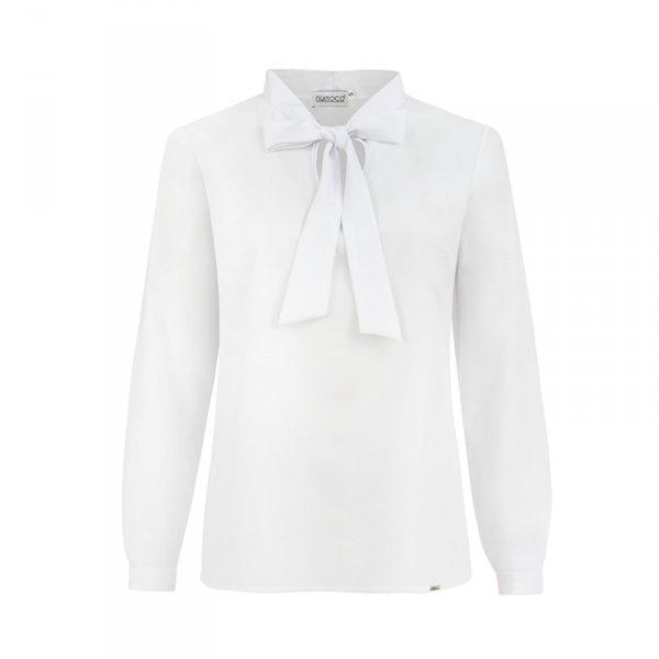 Bluzka z wiązaniem z przodu - Biała - numoco 140-8