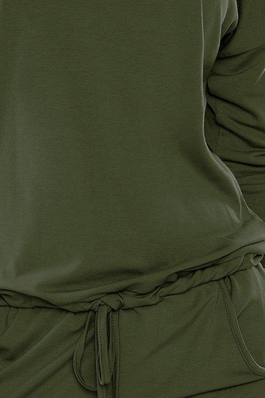Sukienka sportowa - Khaki - militarny - numoco 13-76