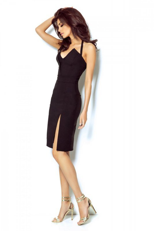 Dopasowana sukienka Niki - Czarna - Ivon